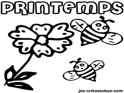 Printemps et Coloriages !