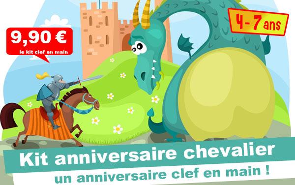 Kit anniversaire Chevalier & Princesse (4/7 ans)