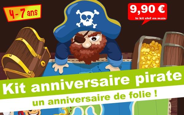 Kit anniversaire Kolat le Pirate (4/7 ans)