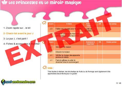 Kit anniversaire princesse prince 4 7 ans maxi for Miroir casse conjurer sort