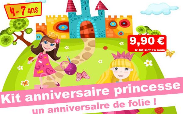 Kit anniversaire Princesse & Prince ( 4/7 ans)