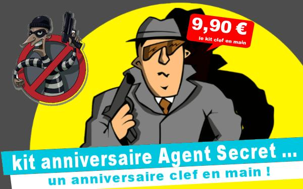 Kit anniversaire Agent Secret : le robot destructeur (4/7 ans)
