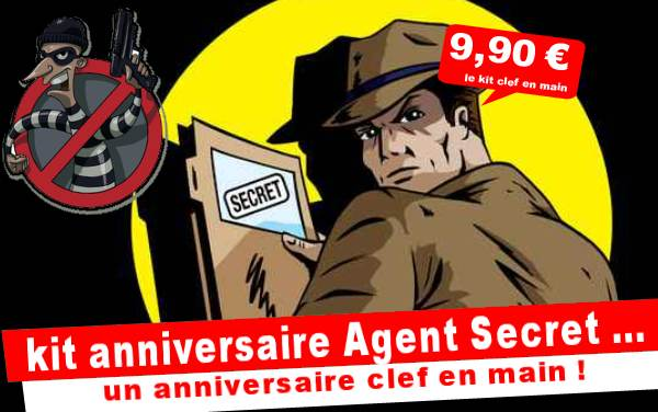 Kit anniversaire Agent Secret : le robot destructeur (8/12 ans)