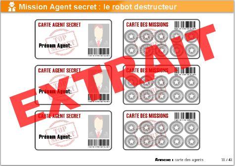 Bien connu Kit anniversaire Agent Secret : le robot destructeur (8/12 ans  GG94
