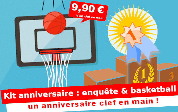 Un kit basketball pour un anniversaire garçon 4 à 7 ans !