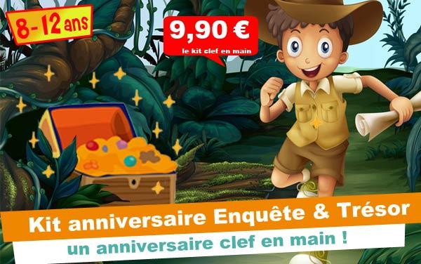 Kit anniversaire Enquête et Chasse au trésor ( 8/12 ans)