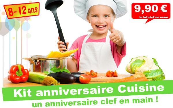 Invitation pour un anniversaire Cuisine !