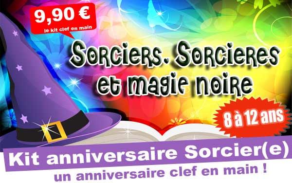 Kit anniversaire Sorciers, Sorcieres & Magie noire (8/12 ans)
