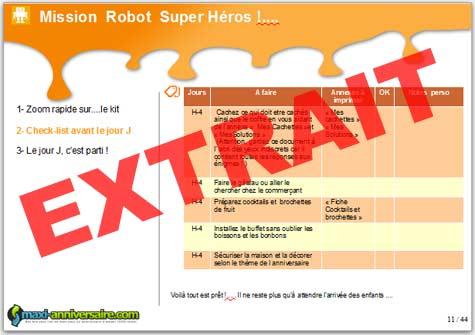 Kit anniversaire robot super h ros 8 12 ans maxi - Kit anniversaire super heros ...