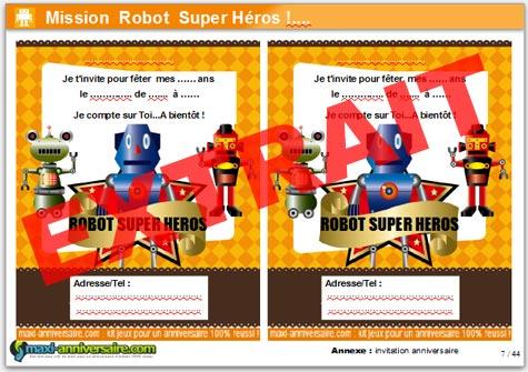 Kit anniversaire robot super h ros 4 7 ans maxi - Kit anniversaire super heros ...