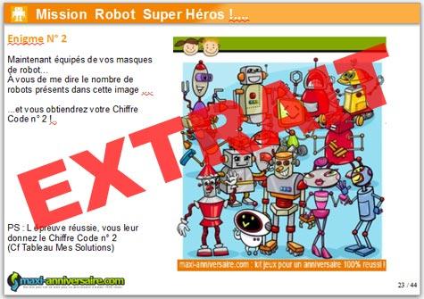 Kit anniversaire robot super h ros 4 7 ans mobile version - Kit anniversaire super heros ...