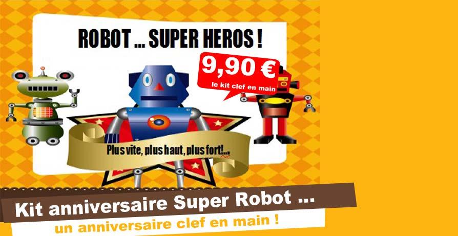 Kit fete anniversaire et jeux d 39 anniversaire pour enfant - Kit anniversaire super heros ...