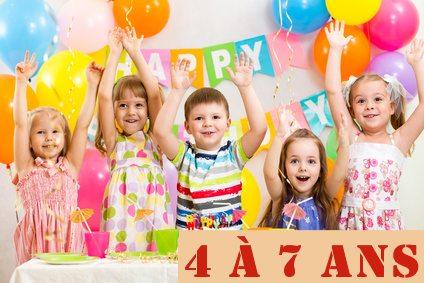 Kits anniversaires 4 / 7  ans @