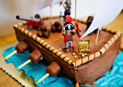 gateau d anniversaire pirate